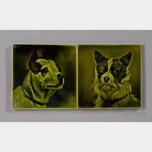 Two Dog Decorated Tiles