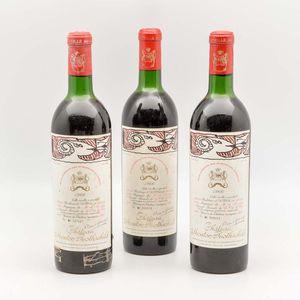 Chateau Mouton Rothschild 1966, 3 bottles