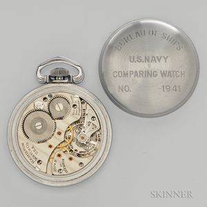 "Hamilton ""2974B"" U.S. Navy Comparing Watch"