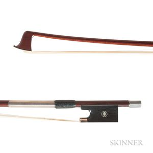 French Silver-mounted Violin Bow, Charles Louis Bazin