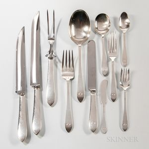 "Forty-four Pieces of Tiffany & Co. ""Faneuil"" Pattern Sterling Silver Flatware"