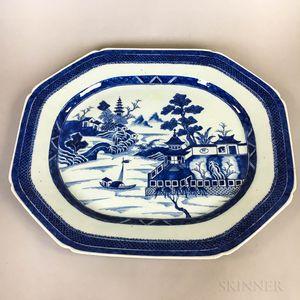 Large Canton Porcelain Platter