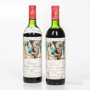 Chateau Mouton Rothschild 1973, 2 bottles