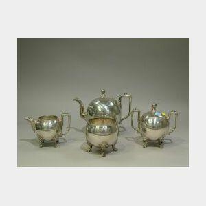 Four-Piece Reed & Barton Silver Plated Tea Set.