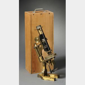 Lacquered Brass Petrographic Microscope