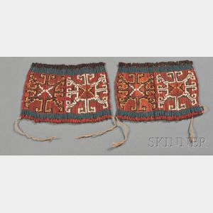 Two Pre-Columbian Wrapped Textile Panels