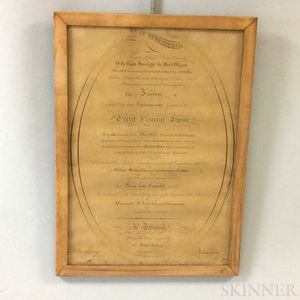 Freedom of City of Dublin for Brigadier General Gerrit Fisher Reproduction