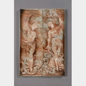 Two Figural Tiles