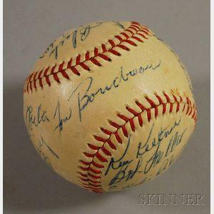 1948 Cleveland Indians Autographed Baseball