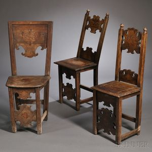 Three Renaissance-style Side Chairs