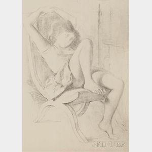 Balthus (French, 1908-2001)      Fillette endormie