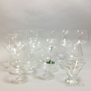 NCV Approximately Forty-one Pieces of Modern Glass Stemware