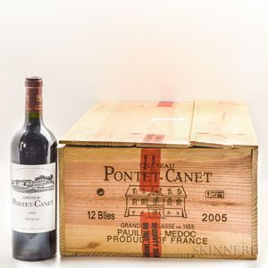 Chateau Pontet Canet 2005, 11 bottles