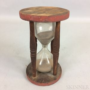 Turned and Painted Wood Hourglass