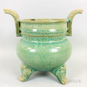 Green-glazed Tripod Censer