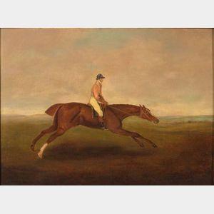 Manner of George Stubbs (British, 1724-1806)    Eclirse, 1770.