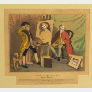 Garrick and Hogarth or the Artist Puzzled