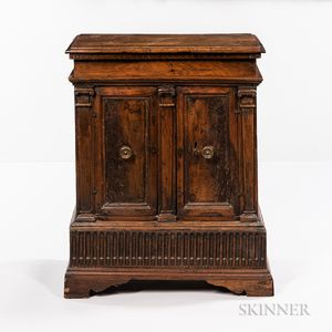 Late Baroque Walnut Side Cabinet