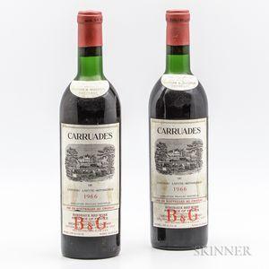 Carruades de Lafite 1966, 2 bottles