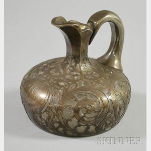 Alvin Sterling Silver Overlay Pitcher