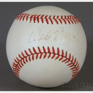 Boston Red Sox Wade Boggs Autographed Baseball