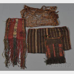 Four Pre-Columbian Textile Items