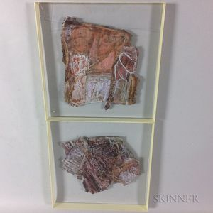 Two Framed Mixed Media Works on Paper
