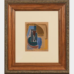 French School, 20th Century      Cubist Still Life