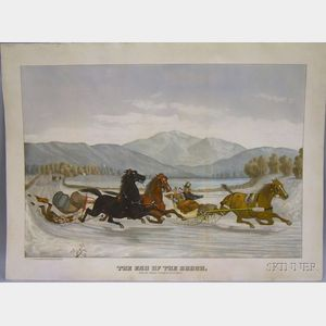 White & Piplar Hand-colored Lithograph The End of the Brush