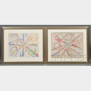 DeHusch Margolies  (American, 1899-1965)      Lot of Two Abstract Compositions
