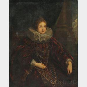 Attributed to Claudio Coello (Spanish, c. 1632-1693)      Portrait of Marguerite of Parma