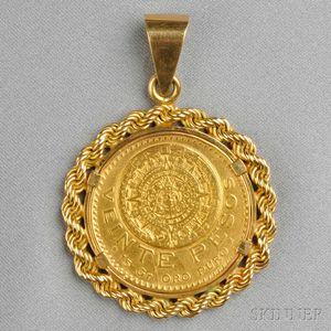 20 Peso Gold Coin Pendant
