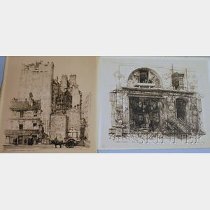 Samuel Chamberlain (American, 1895-1975)      Lot of Two Lithographs: Passy Ancien Et Nouveau Paris 1924
