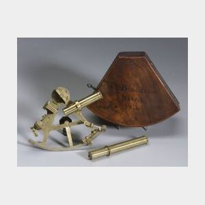 Miniature Brass Sextant By Banks