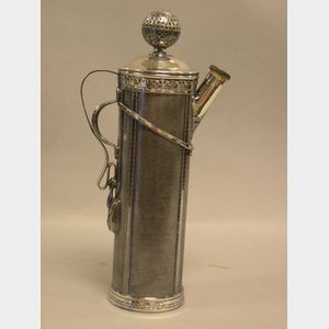 Derby Silver Plated Golf Bag Cocktail Shaker.