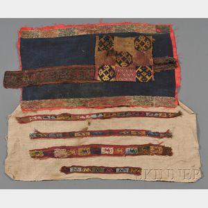 Seven Pre-Columbian Textile Fragments
