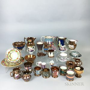 Thirty-six English Lustre Ceramic Items