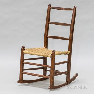 Small Red-stained Rocking Chair