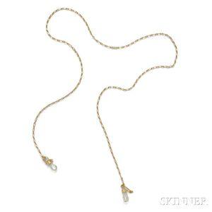 18kt Gold Eyeglass Chain, Cartier