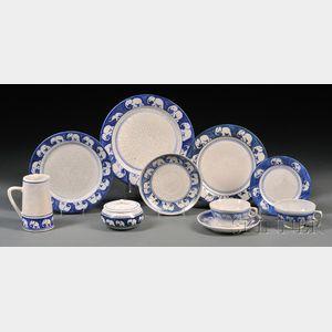 Ten Pieces of Dedham Elephant Pottery