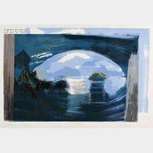 Michael Burton Mazur (American, 1935-2009)      Island in a Storm