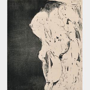 Leonard Baskin (American, 1922-2000)      Birdman in Profile
