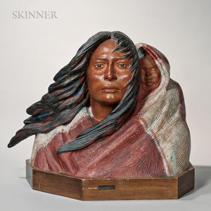 Harry Jackson (American, 1924-2011)      Sacajawea-Indian Mother and Child, 1st Working Model for a Monument (with child)