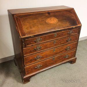 George III Inlaid Mahogany Slant-lid Desk