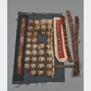 Six Pre-Columbian Textile Fragments
