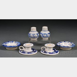 Six Pieces of Small Dedham Elephant Pottery