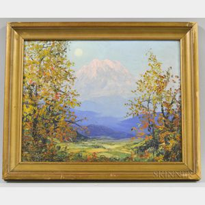 Lionel Salmon (Washington, 1885-1945)       View of Mt. Rainier.