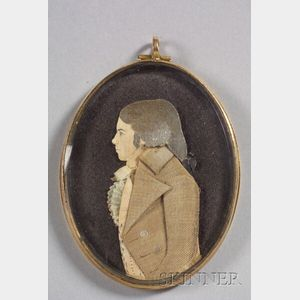 Attributed to Mary Way (New London and New York, 1769-1833)    Dressed Portrait Miniature and a Portrait Miniature of a Gentleman.