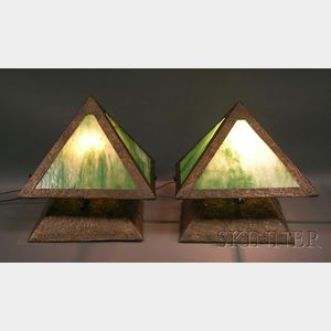 Pair of The Cottage of the Crafter Table Lamps