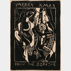 Marguerite Thompson Zorach (American, 1887-1968)      Merry Xmas from the Zorachs